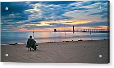Lake Michigan Fishing Acrylic Print
