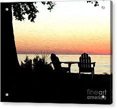 Acrylic Print featuring the photograph Lake Michigan Sunset by Anne Raczkowski