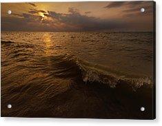 Lake Michigan Sunset Acrylic Print by Steve Gadomski