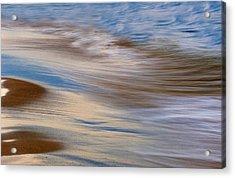 Lake Michigan Surf Acrylic Print by Dean Pennala