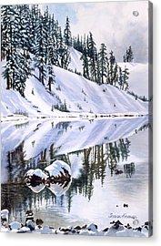 Lake Moraine Oregon Acrylic Print by Sharon Freeman