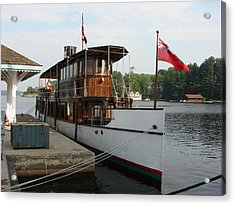 Acrylic Print featuring the mixed media Lake Muskoka Steamer by Bruce Ritchie
