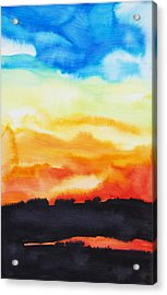 Lake Of Fire Acrylic Print by Tara Thelen