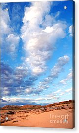 Lake Powell Clouds Acrylic Print by Thomas R Fletcher