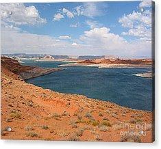 Lake Powell Landscape Panorama Acrylic Print by Merton Allen