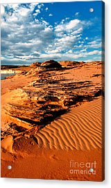 Lake Powell Morning Clouds Acrylic Print by Thomas R Fletcher