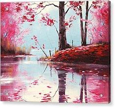 Lake Reflections Acrylic Print by Graham Gercken