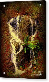 Lake Shasta Waterfall 3 Acrylic Print by Garnett  Jaeger