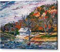 Lake Side  Acrylic Print by Linda  Steine