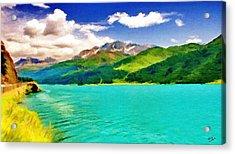 Lake Sils Acrylic Print by Jeffrey Kolker