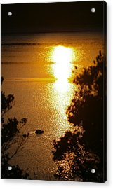 Lake Sunrise Acrylic Print by Miguel Capelo