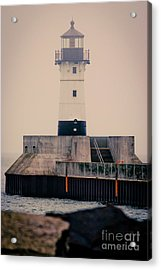 Lake Superior Lighthouse Acrylic Print by Mark David Zahn