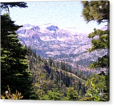 Acrylic Print featuring the photograph Lake Tahoe Mountains by Anne Raczkowski