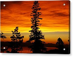 Lake Tahoe Sunset Acrylic Print by Bruce Friedman