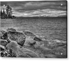 Lake Tahoe Winter Storm Acrylic Print by Scott McGuire