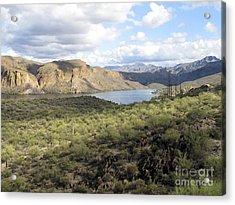 Acrylic Print featuring the photograph Lake View From Arizona Hwy by Leslie Hunziker