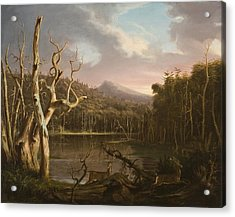 Lake With Dead Trees  Acrylic Print