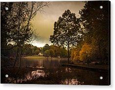 Lakefront Evening Acrylic Print by Barry Jones