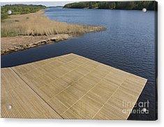 Lakeside Dock Acrylic Print by Jaak Nilson