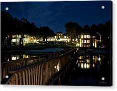 Lakeside Inn At Night Acrylic Print by Christopher Holmes