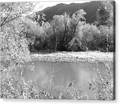 Acrylic Print featuring the photograph Lakeside Mountain View by Kathleen Grace