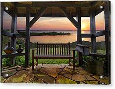 Lakeside Serenity Acrylic Print by Debra and Dave Vanderlaan