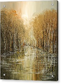 Acrylic Print featuring the painting Lakeside Song by Tatiana Iliina