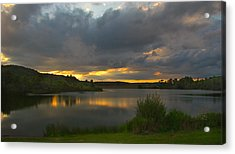 Acrylic Print featuring the photograph Lakeside Sunset by Cindy Haggerty