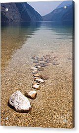 Lakestones Acrylic Print by Andrew  Michael