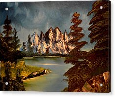 Acrylic Print featuring the painting Lakeview by Maria Urso