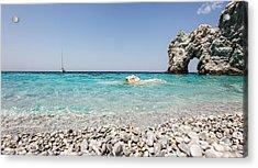 Lalaria Beach Skiathos Island Acrylic Print by Nick Karvounis