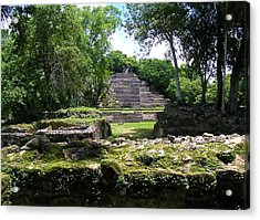 Acrylic Print featuring the photograph Lamanai- Belize by Li Newton