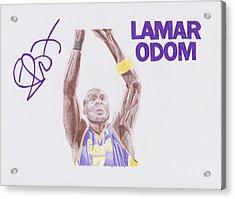 Lamar Odom Acrylic Print by Toni Jaso
