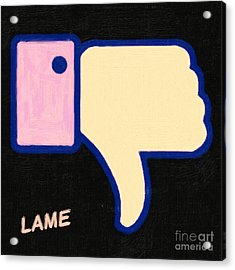 Lame . Painterly Acrylic Print by Wingsdomain Art and Photography