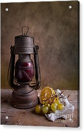 Lamp And Fruits Acrylic Print