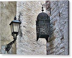 Lamp On Wall Acrylic Print by Jordi Sardà López