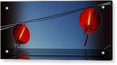 Acrylic Print featuring the photograph Lampion by Arik S Mintorogo