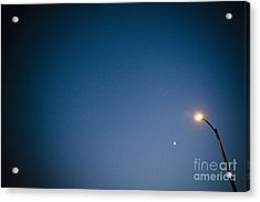 Lamppost At Dusk Acrylic Print by Sam Bloomberg-rissman