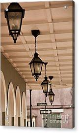 Lamps Acrylic Print by Leslie Leda