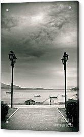 Lamps On Lake Acrylic Print by Silvia Ganora