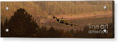 Lancaster Over The Dams Acrylic Print by Nigel Hatton