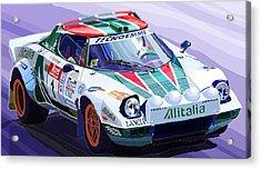 Lancia Stratos Alitalia Rally Catalonya Costa Brava 2008 Acrylic Print by Yuriy  Shevchuk