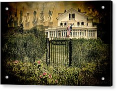 Land Of The Free..home Of The Brave Acrylic Print by Robin-Lee Vieira