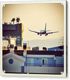Landing Above Buildings Acrylic Print