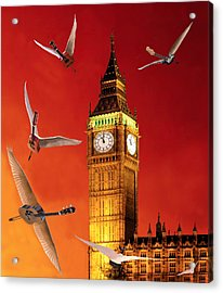 Landing In London Rocks Acrylic Print by Eric Kempson