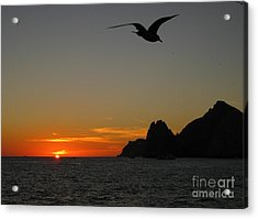Land's End Sunset Acrylic Print by Judee Stalmack