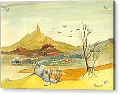 Landscape 4 Acrylic Print by Padamvir Singh