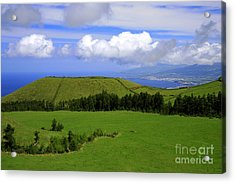 Landscape With Crater Acrylic Print by Gaspar Avila