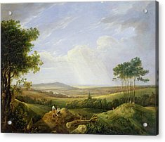 Landscape With Figures  Acrylic Print by Captain Thomas Hastings