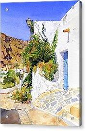 Lane In Nijar Acrylic Print by Margaret Merry